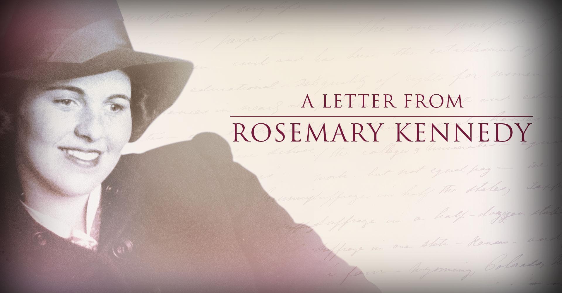Assistir grátis Uma Carta de Rosemary Kennedy Online sem proteção